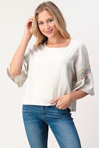 Smock-Sleeve Pullover