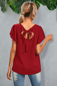 Tie-back Chiffon Top ***2 COLORS AVAILABLE!