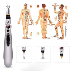 Electronic Acupuncture Pen Electric Meridians Laser Therapy Heal Massage Pen Meridian Energy Pen Relief Pain Tools