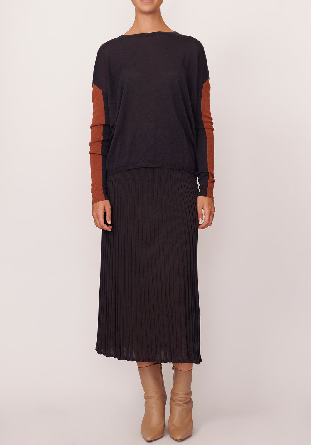 Scope Ribbed Skirt - Slate