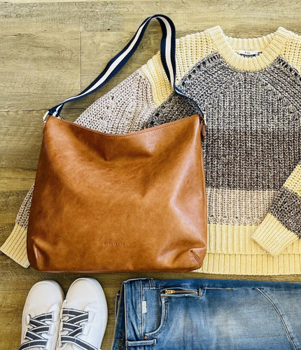 Bronte Hobo Bag - Tan Pebble