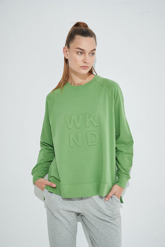 Embossed Sweat - Meadow Green