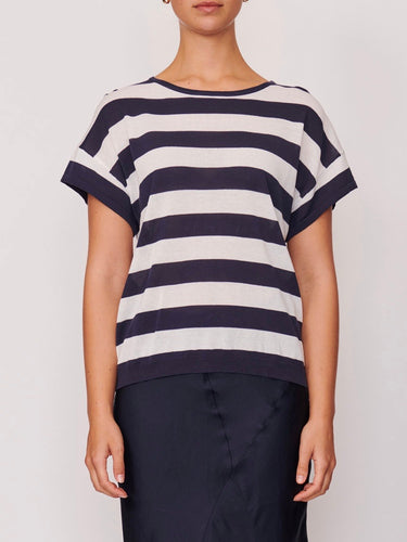 Fresco Striped Tee - Navy/White