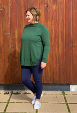 Load image into Gallery viewer, High Neck Curved Pullover - Green