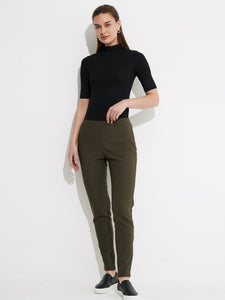 Straight Crop Pant - Khaki