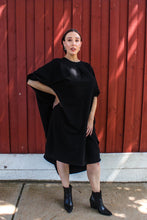 Load image into Gallery viewer, Batwing Jersey Dress - Black