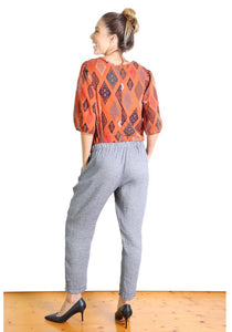 Bacetta Cotton Pants - Grey