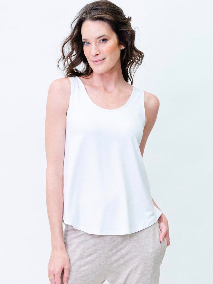 Ellie Singlet - White