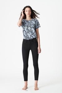 Alissa Ankle High Rise Skinny Jean - Black