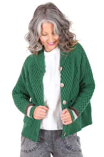 Lakehouse Cable Cardi - Green