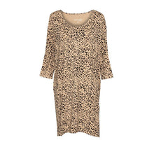 Load image into Gallery viewer, Selena Slouch Dress - Brown Leopard