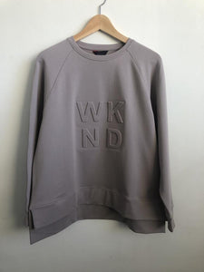 Embossed Sweat - Lilac Grey