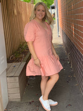 Load image into Gallery viewer, Artie short Dress - Salmon