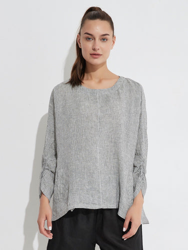 Check Blouse - White Small Check