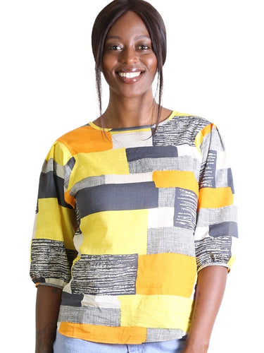 Southbank Seer Blouse -  Yellow