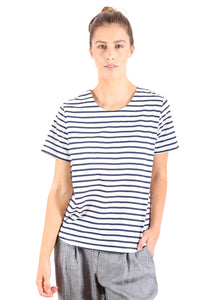 Rotterdam Seer Top - Navy Stripe