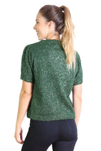 Load image into Gallery viewer, Lucille Ball Glitter Top - Green