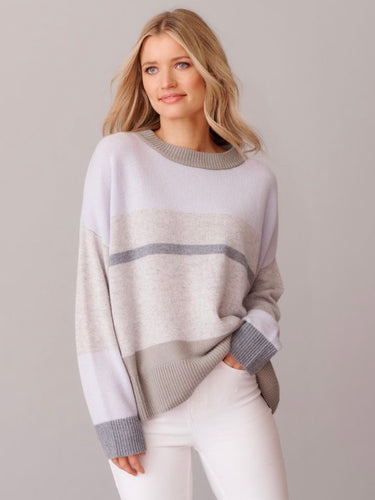 Soleil Splice Sweater - Grey