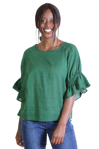 Seki Blouse - Old Tram Green