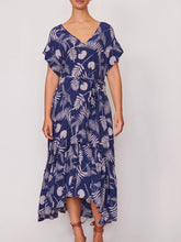 Load image into Gallery viewer, Sofia Ruffle Sleeve Dress - Navy