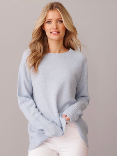 Chunky Fifi Crew Sweater - Water