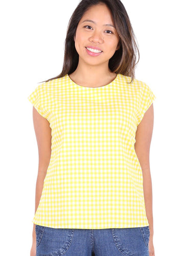 Sunshine Cotton Tee - Yellow