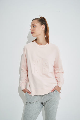 Embossed Sweat -Pink