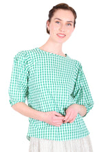 Load image into Gallery viewer, Sunshine Cotton Blouse -Green