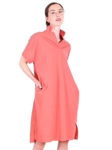 Queenscliff Ferry Cotton Dress - Burnt Orange