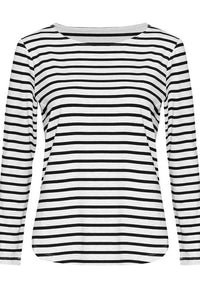 Adele Tee - Grey Marle & Black Stripe