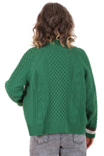 Load image into Gallery viewer, Lakehouse Cable Cardi - Green