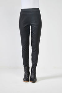 Coated Pants - Black