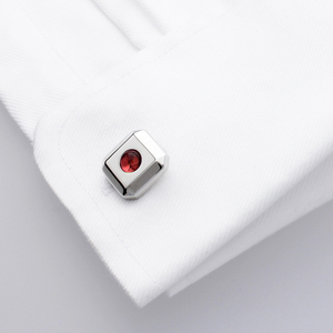 Hydra - Genuine Garnet Cufflinks - Precious Gemstones- Perfect cufflinks for that special occasion