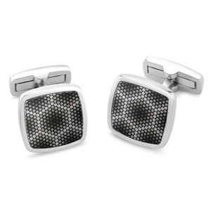 Amparo Grey | Printed Surface Cufflinks - Duncan Walton Store