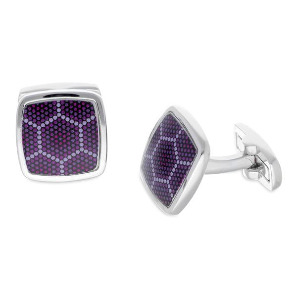 Amparo Purple | Printed Surface Cufflinks