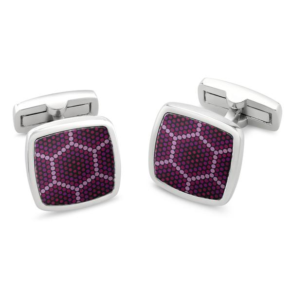 Amparo Purple | Printed Surface Cufflinks - Duncan Walton Store