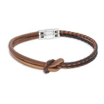 Aphex Brown | Leather and Steel Bracelet - Duncan Walton Store