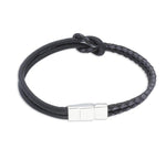 Aphex Black | Leather and Steel Bracelet - Duncan Walton Store