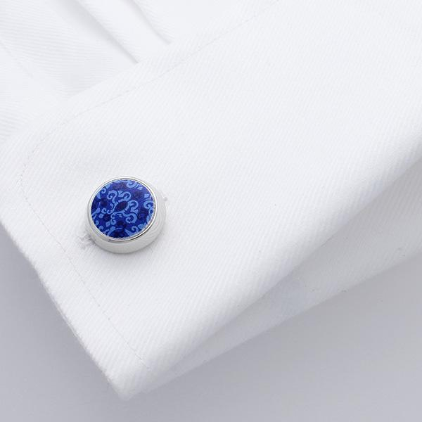 Arad Blue Baroque Cufflinks