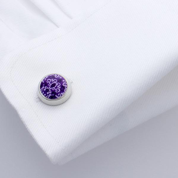 Arad Purple Baroque Cufflinks