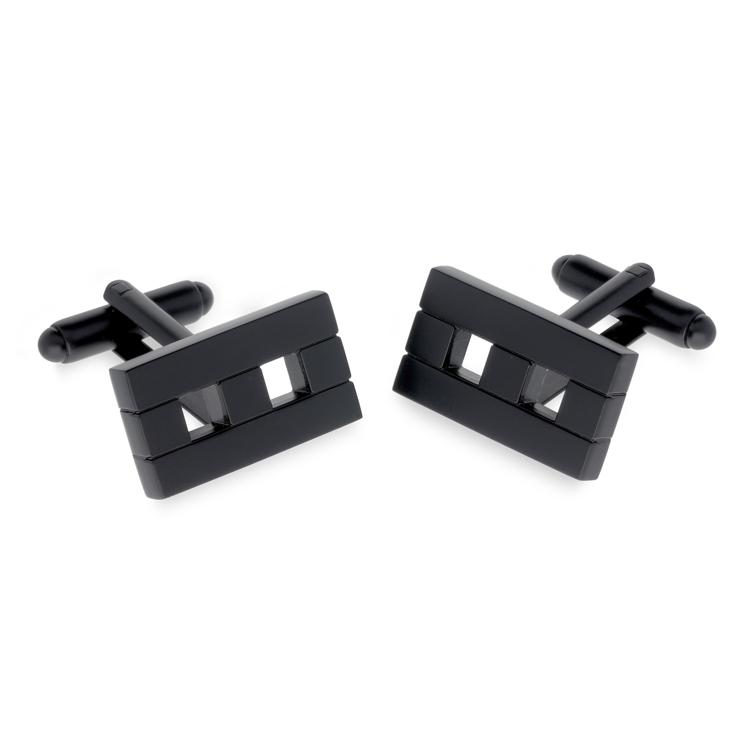 Ark Black Metal Cufflinks