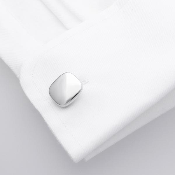 Asose Rhodium | Metal Cufflinks