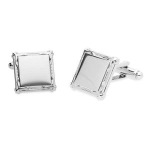 Braxton Border | Metal Cufflinks