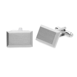 Braxton Brushed Metal Cufflinks
