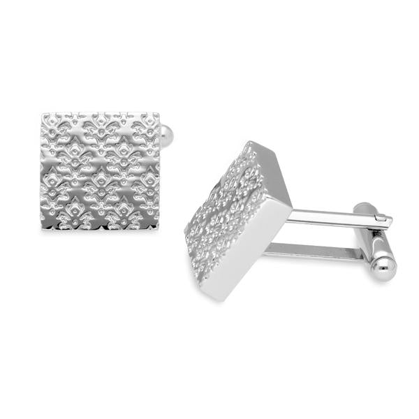 Braxton Damask Metal Cufflinks