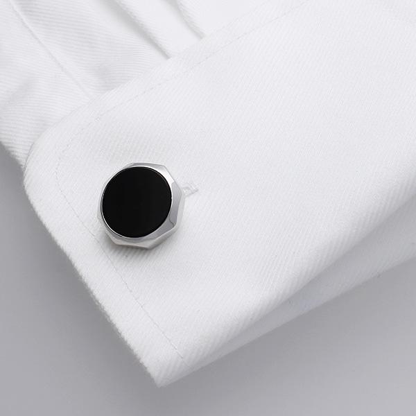 Castigoni cufflinks are a fusion of classical/contemporary design.