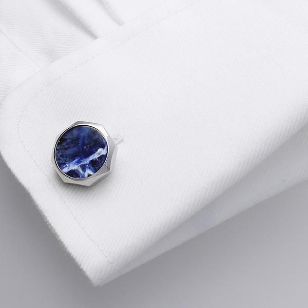 Castigoni cufflinks are a fusion of classical and contemporary design.