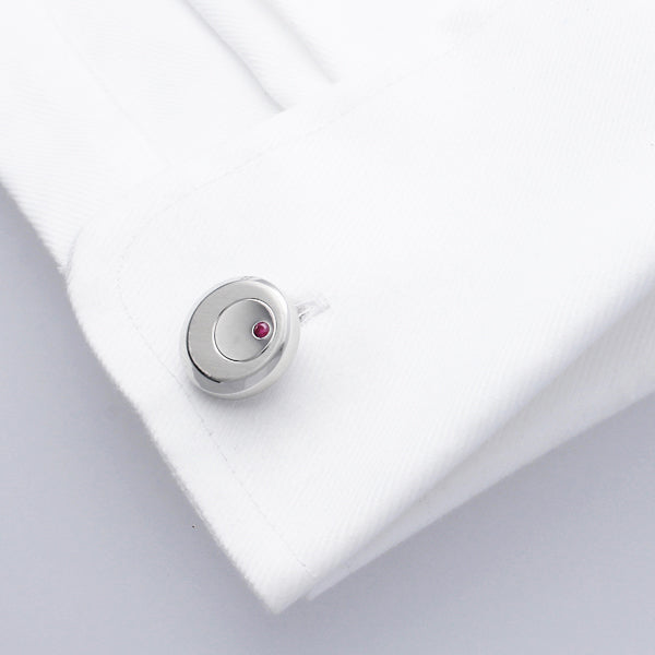 Elegant Genuine Ruby Cufflinks