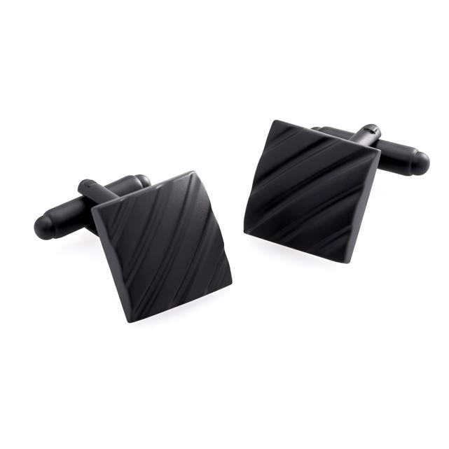 Clough Matt Black | Metal Cufflinks - Duncan Walton Store