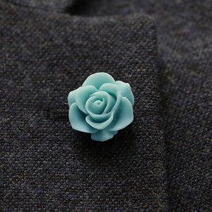 Clour Aqua Lapel Pin